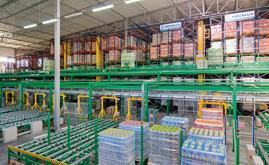 Mecalux a construit un magasin automatique qui permettent le stockage de 18 000 palettes