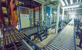 La zone frontale de l'entrepôt, c'est dans cette zone que sont réalisées les sorties et une partie des entrées