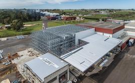 Mecalux a ainsi construit une chambre froide autoportante de 1 410 m² d'une capacité de plus de 3 400 palettes