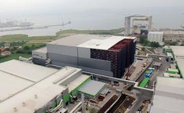 Vue aérienne du spectaculaire entrepôt autoportant de Hayat Kimya