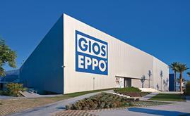L'entrepôt autoportant se fond parfaitement au paysage et limite son impact environnemental sur la plateforme logistique Gioseppo Love Work Place