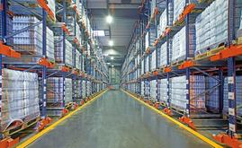 L'entrepôt de SLVA peut stocker un total de 7 424 palettes sur une surface de 2 829 m²
