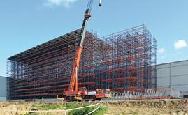 Mecalux a construit un nouveau magasin automatique autoportant d'une capacité de plus de 6 300 palettes