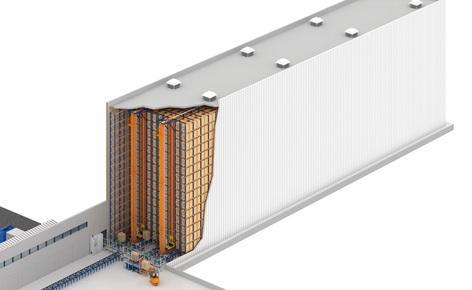 Un entrepôt automatisé autoportant de 20 m de haut pour l'entreprise pharmaceutique brésilienne Novamed