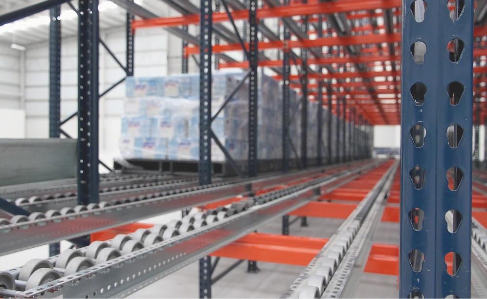 Des rayonnages dynamiques à rouleaux dans les entrepôts de MIYM au Mexique