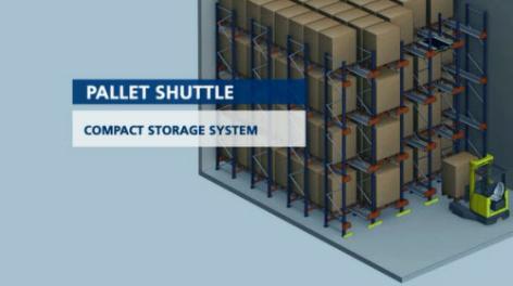 Pallet Shuttle : semi-automatisch opslagsysteem