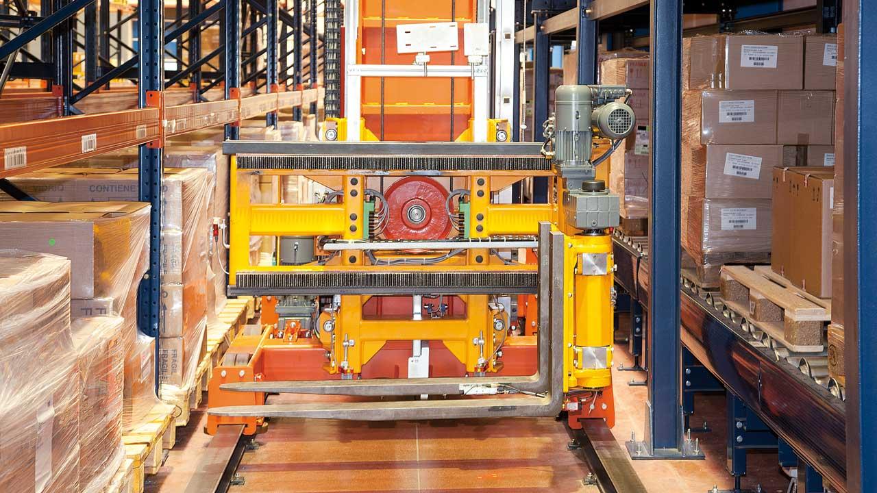 Cas pratique Transstockeur tridirectionnel automatique: Disalfarm