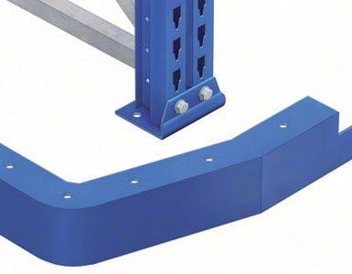 Aan het begin van de gangpaden met geleiderails moeten positioneringsprofielen worden geplaatst om de heftrucks gemakkelijk te centreren