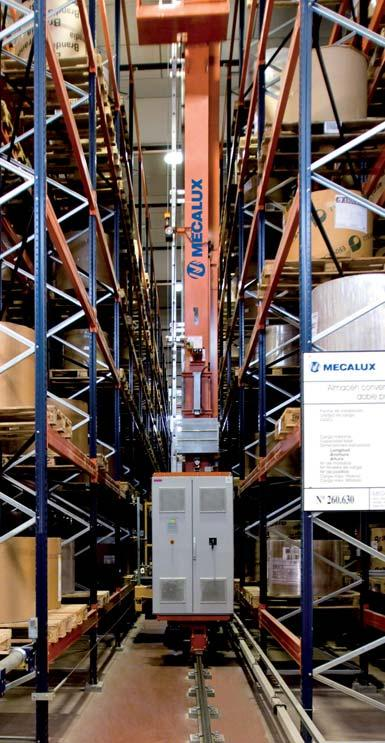 Automatisch magazijn voor papierrollen