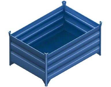 Voorbeeld van een magazijnbak