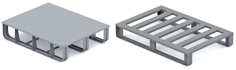 Metalen pallets worden vooral gebruikt in de automobiel- en metaalindustrie