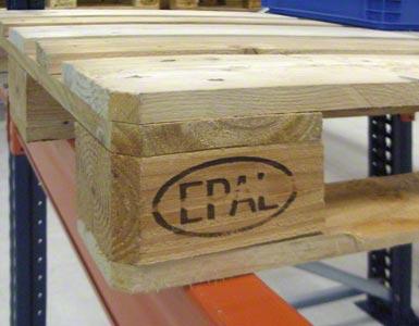 Een Europallet kan men herkennen aan de letters EPAL