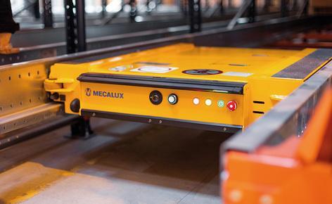Gémo a choisi Mecalux pour équiper son entrepôt de rayonnages desservis par des navettes Pallet Shuttle