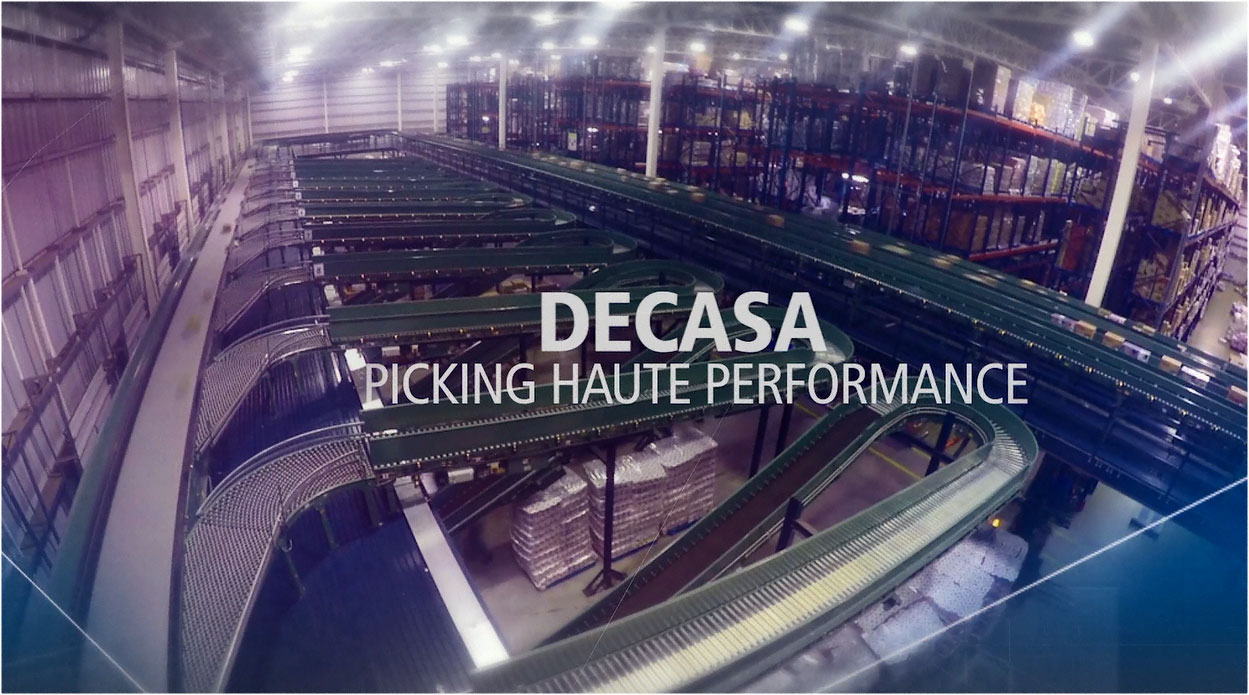 Cas clients : DECASA, stockage et picking haute performance