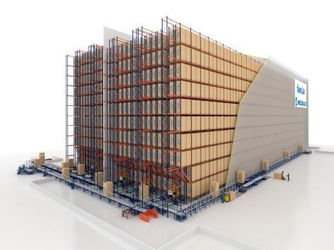 L'entrepôt de Grupo Familia dispose d'une capacité de stockage de 19 000 palettes