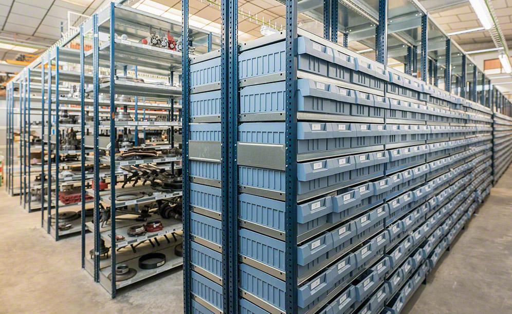 L'entrepôt de pièces de rechange pour véhicules industriels de RS Turia