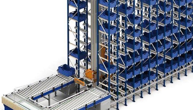 Les pièces et sous-ensembles mécaniques seront stockées dans un nouveau magasin automatique pour caisses de 35 m de long