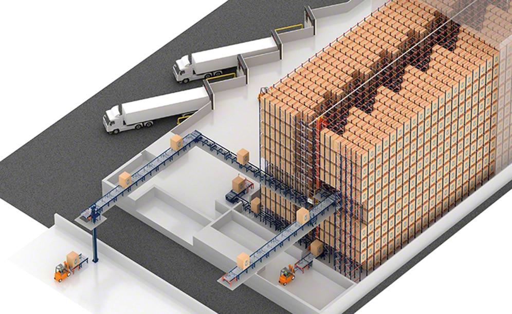 AlzChem bouwt een magazijn met een automatische Pallet Shuttle in Trostberg