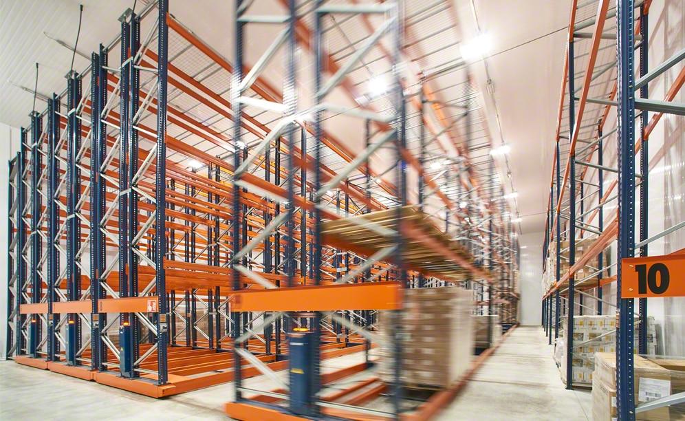 Les rayonnages Movirack rentabilisent le nouvel entrepôt de Trasporti Sabbini
