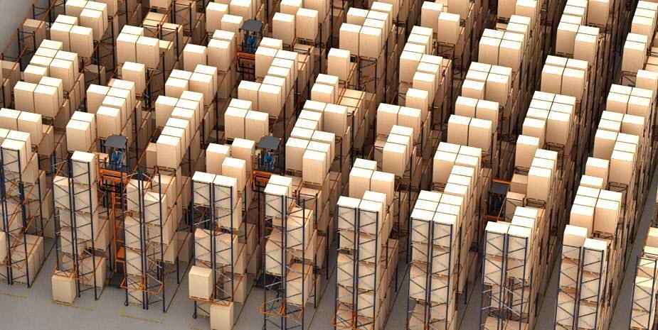 Het magazijn van Barsan in Belgie, voor een beter beheer van zijn logistiek