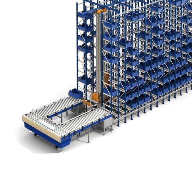 An automated miniload warehouse in the Luca Cuccolini logistics centre in Toledo
