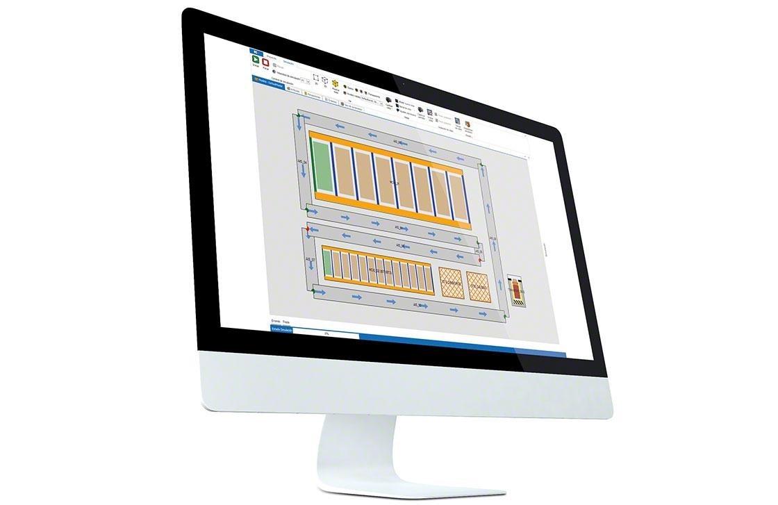Utilisation d'un WMS pour gérer un entrepôt et calculer les KPIs logistiques.