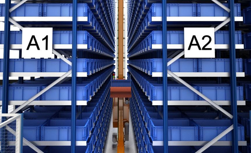 L'entrepôt automatisé de FPT avec une capacité de plus de 7000 caisses