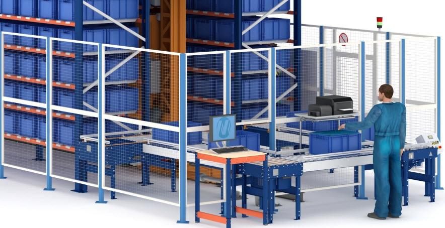 Magasin automatique pour caisses d'Airgrup pouvant stocker 3852caisses