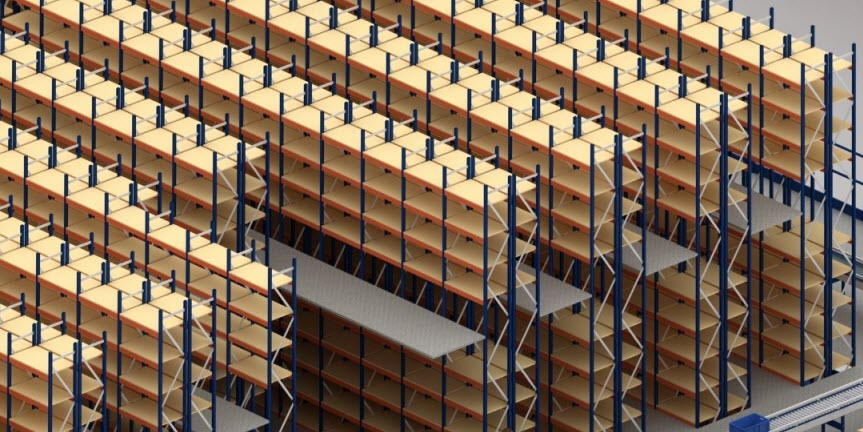 L'entrepôt de Gate doté de rayonnages avec passerelles en Slovaquie