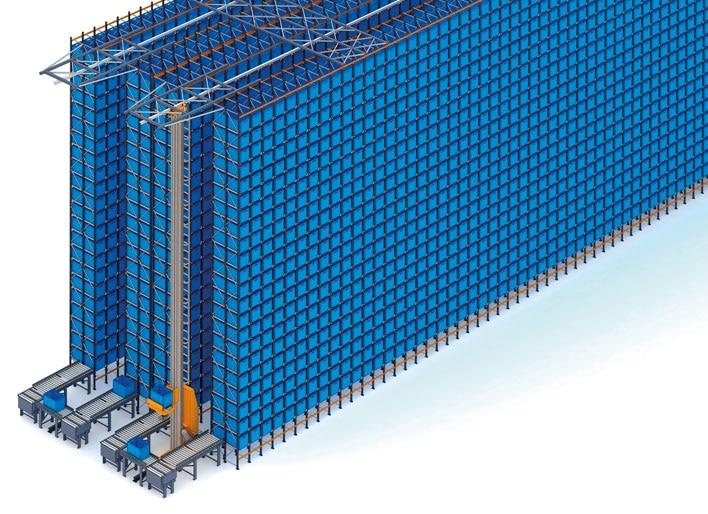 Magasin automatique pour bacs et rayonnages à palettes de FIC