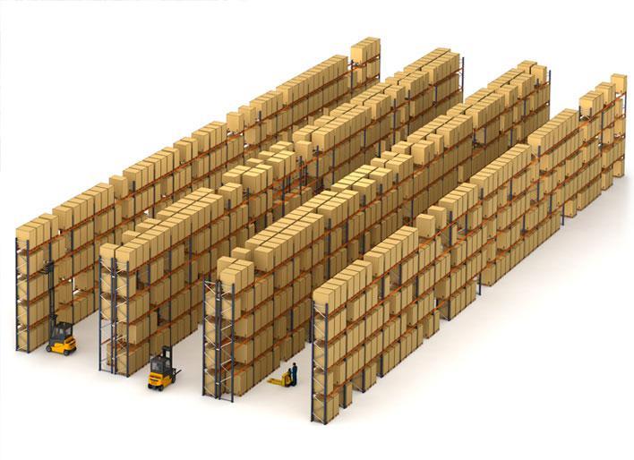 L'entrepôt pour palettes du détaillant CBA Slovakia