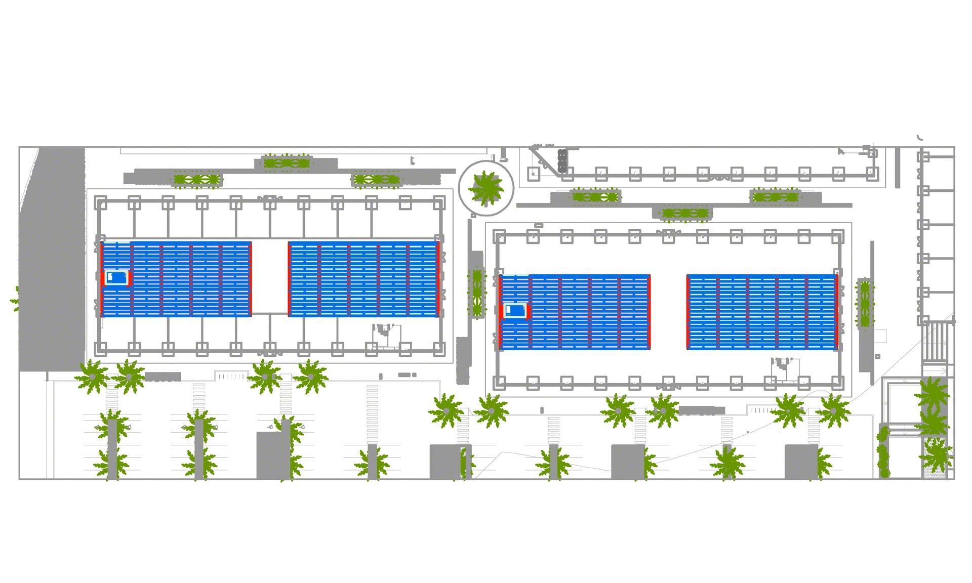 Une solution qui optimise la surface de stockage d'Almenara Mall